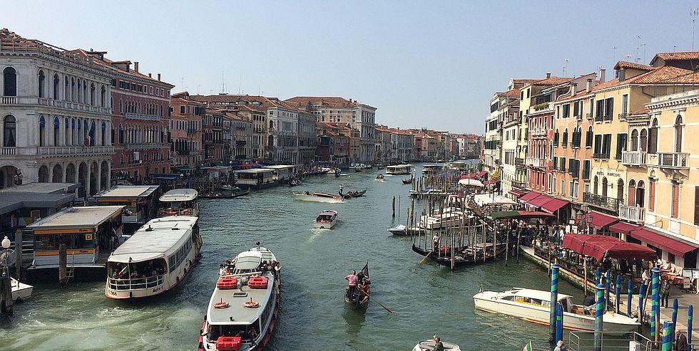 Barki w Wenecji
